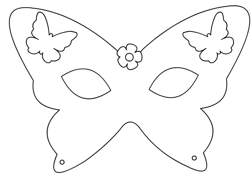 Halloween Butterfly Mask
