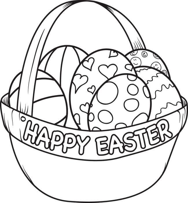 Happy Easter Eggs Basket