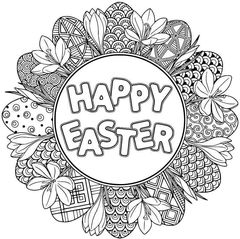 Happy Easter Mandala