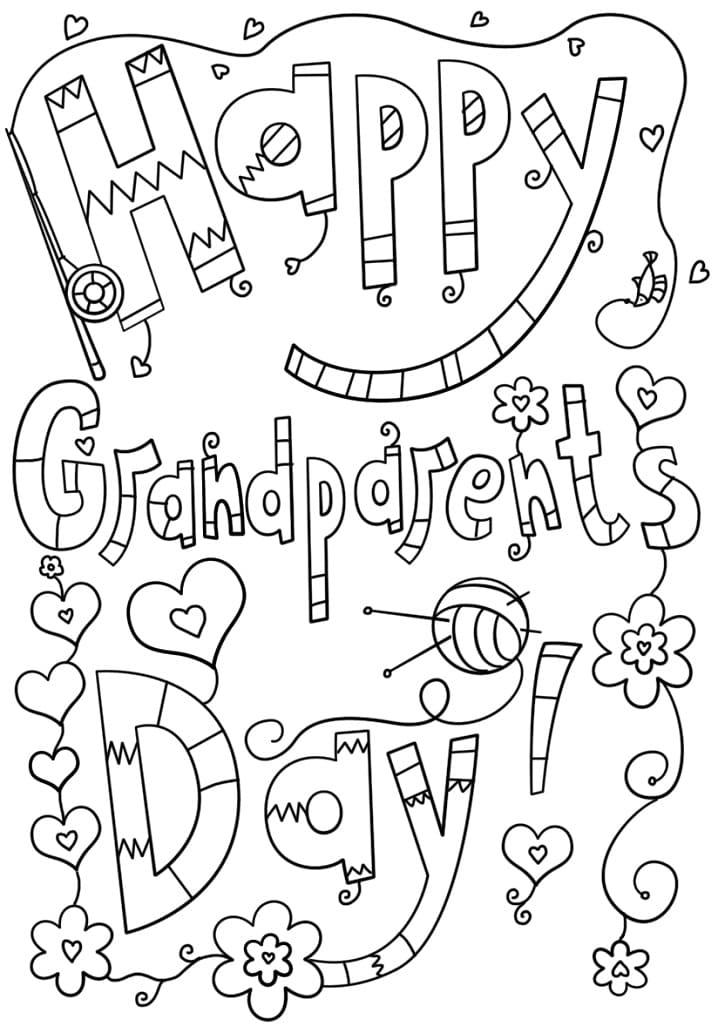 Happy Grandparents Day Doodle