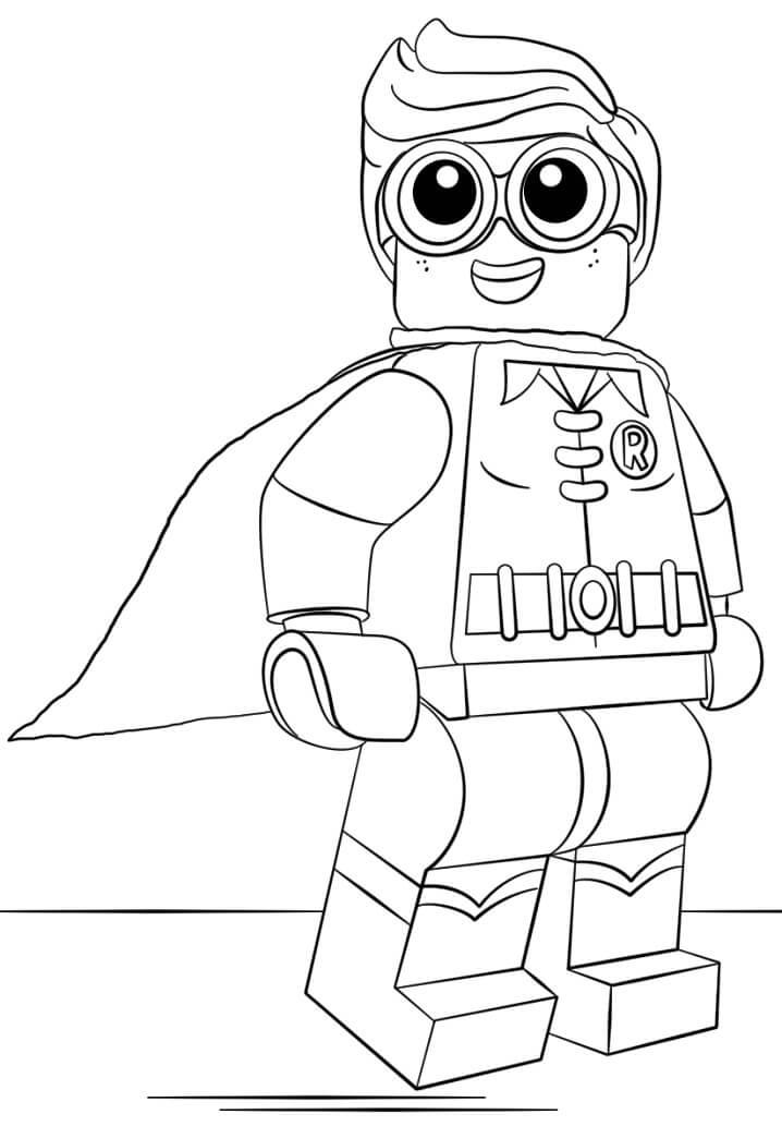Happy Lego Robin