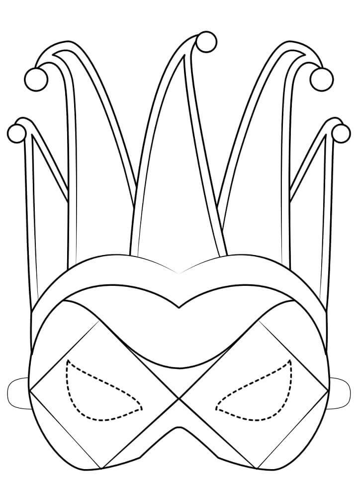 Harlequin Mask Mardi Gras