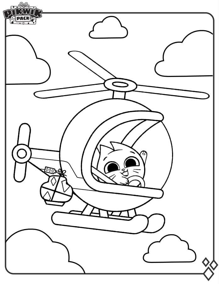 Hazel on Helicopter