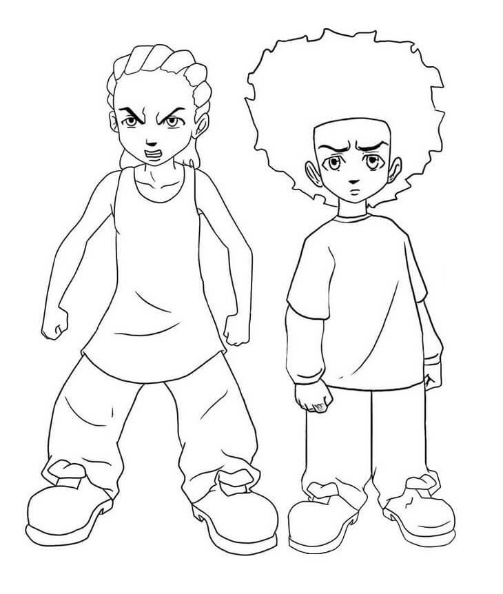 Huey and Riley Freeman from Boondocks 1