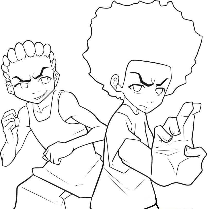Huey and Riley Freeman from Boondocks