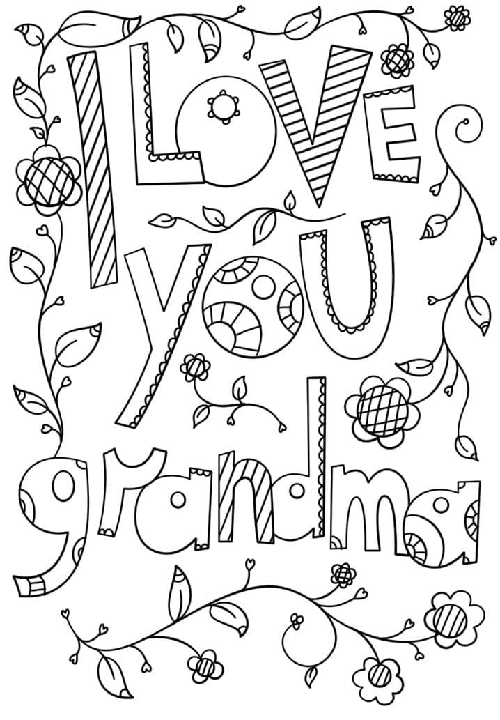 I Love You Grandma Doodle