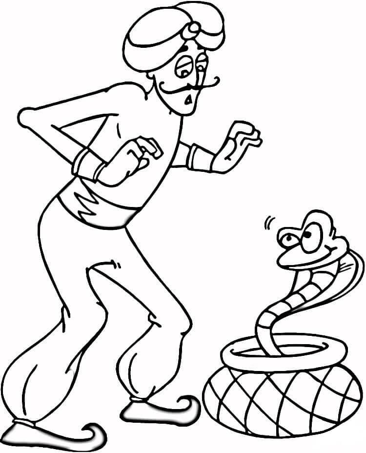 Indian Man And Cobra