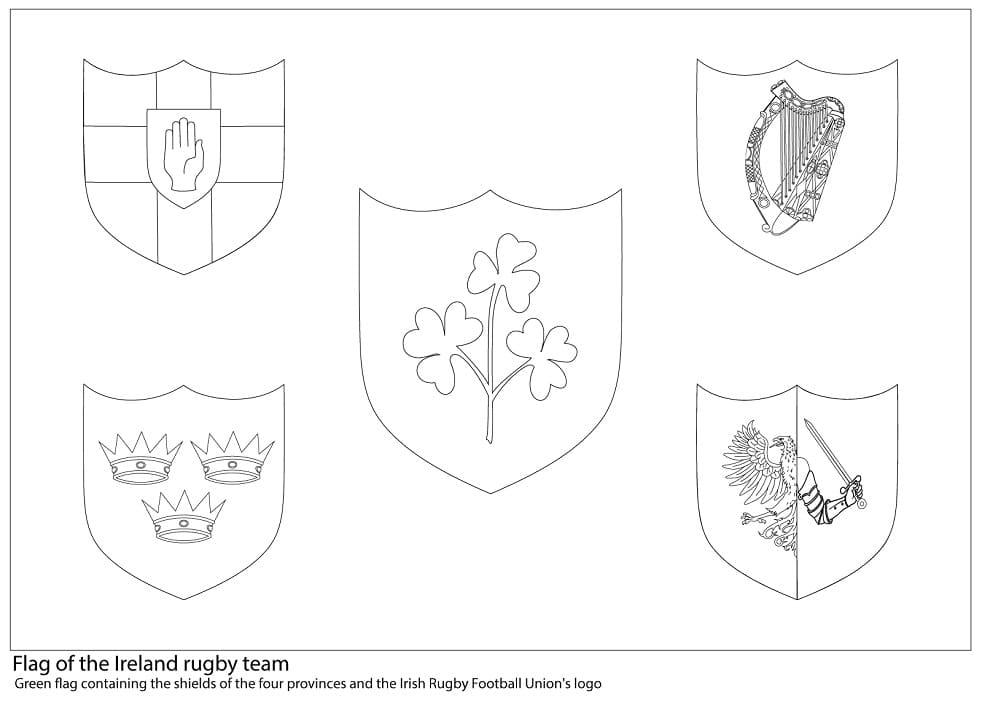Ireland Rugby Team Flag