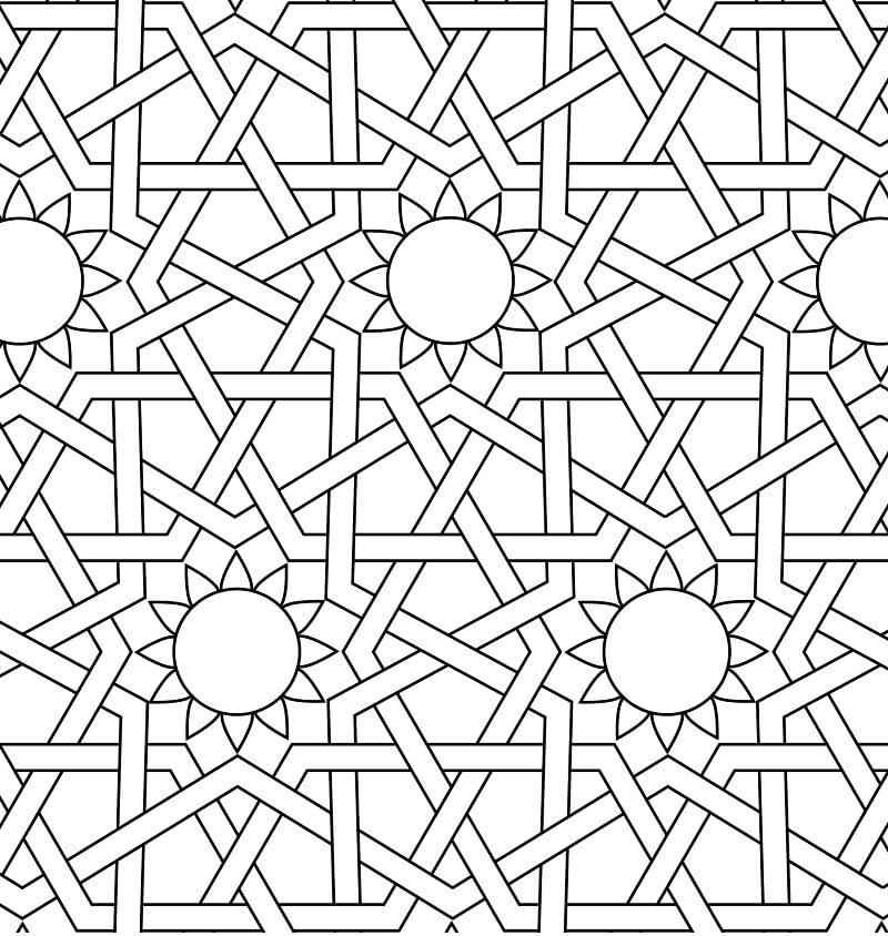 Islamic Ornament Mosaic