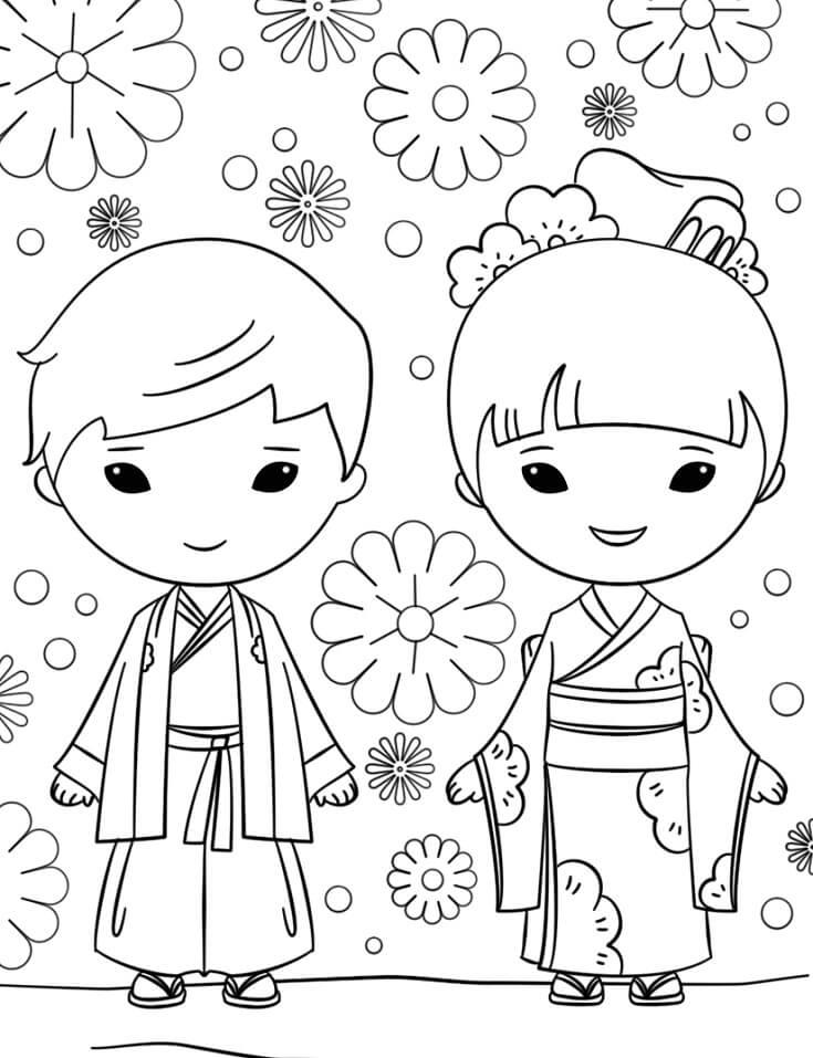 Japanese Boy and Girl