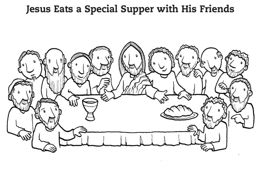 Jesus in Last Supper