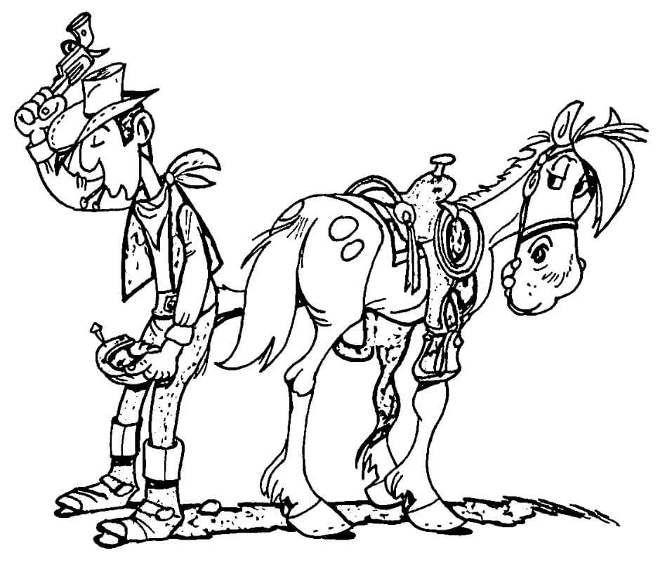 Jolly Jumper and Lucky Luke