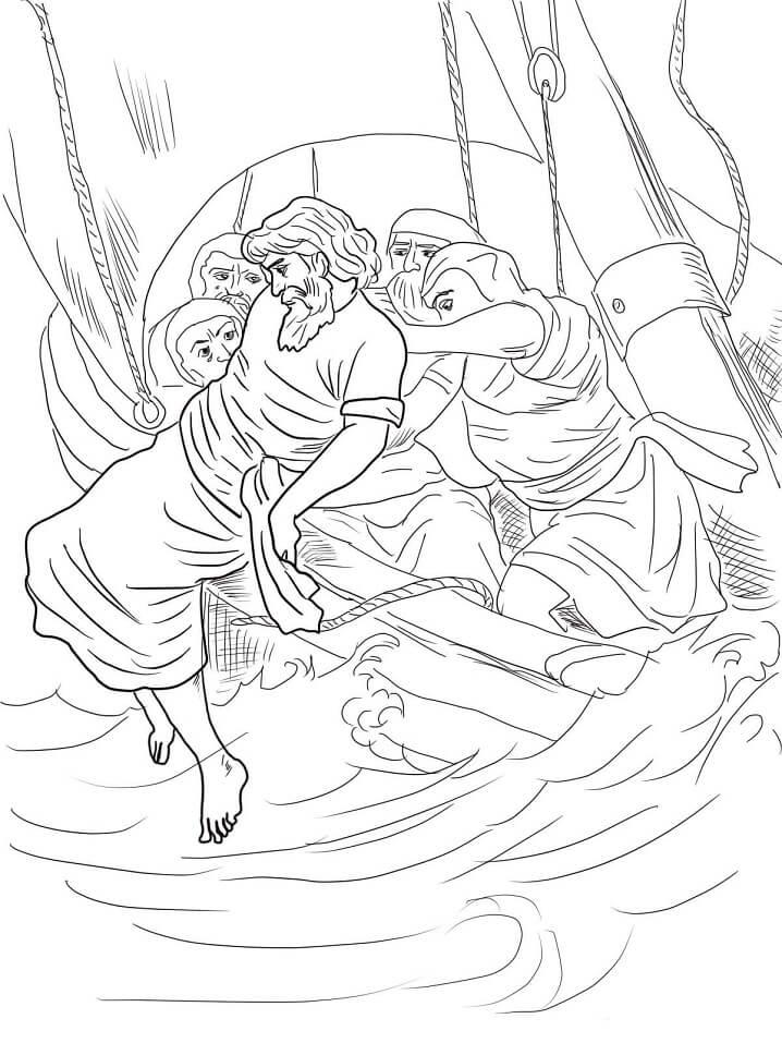 Jonah Thrown Overboard