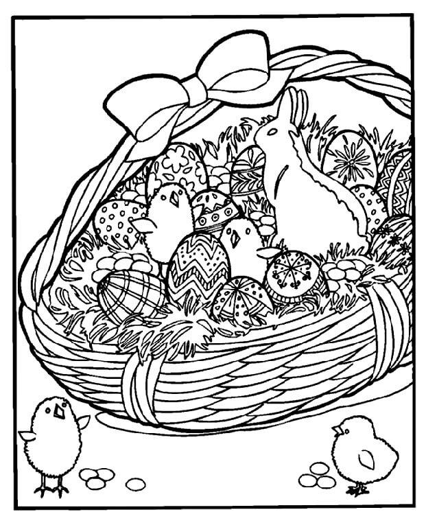 Kawaii Easter Basket
