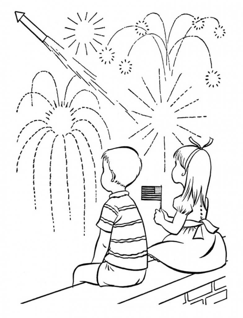 Kid look Fireworks
