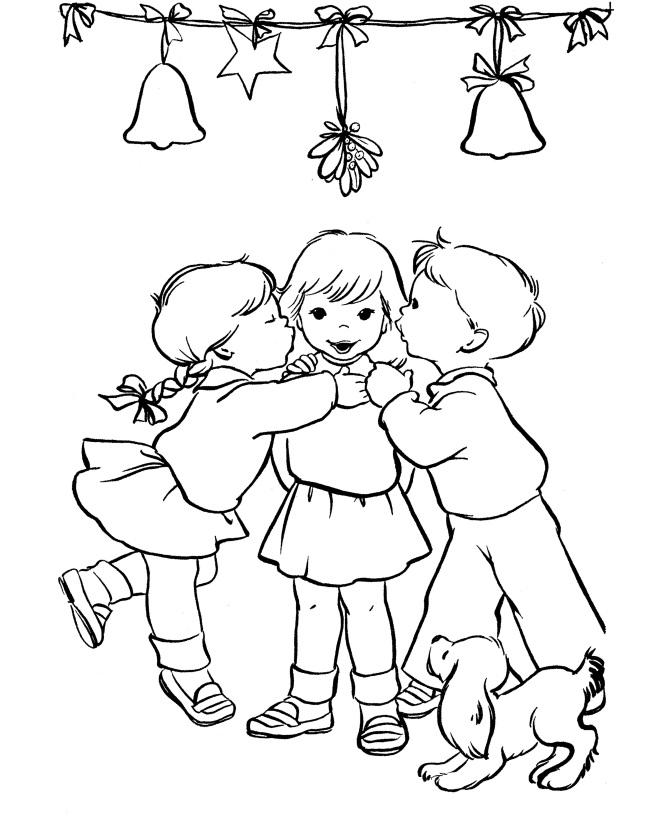 Kids Under The Mistletoe