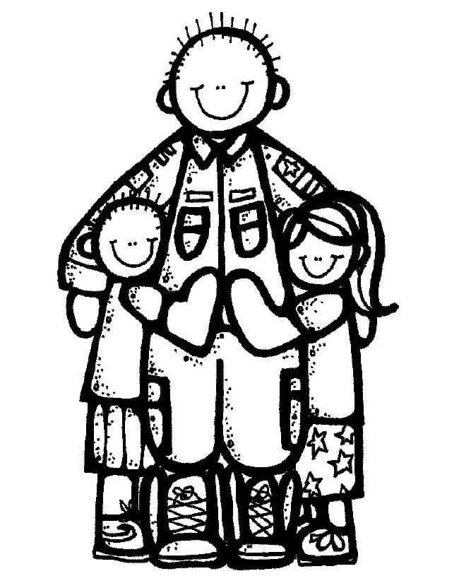 Kids and Dad Melonheadz