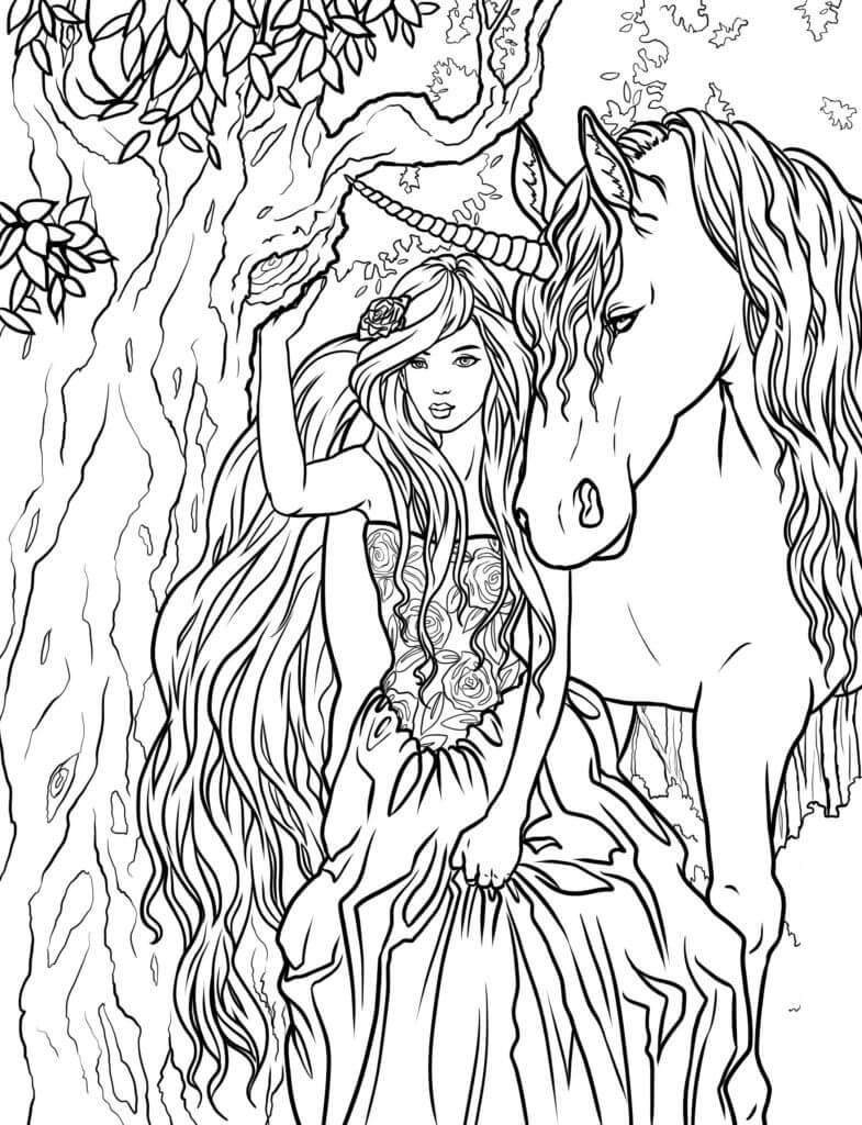 Lady and Unicorn Fantasy