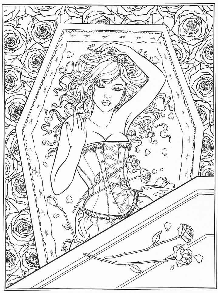 Lady in Coffin Fantasy