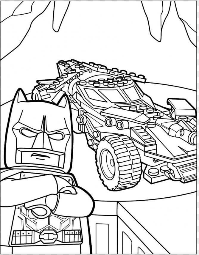 Lego Batman in Batcave