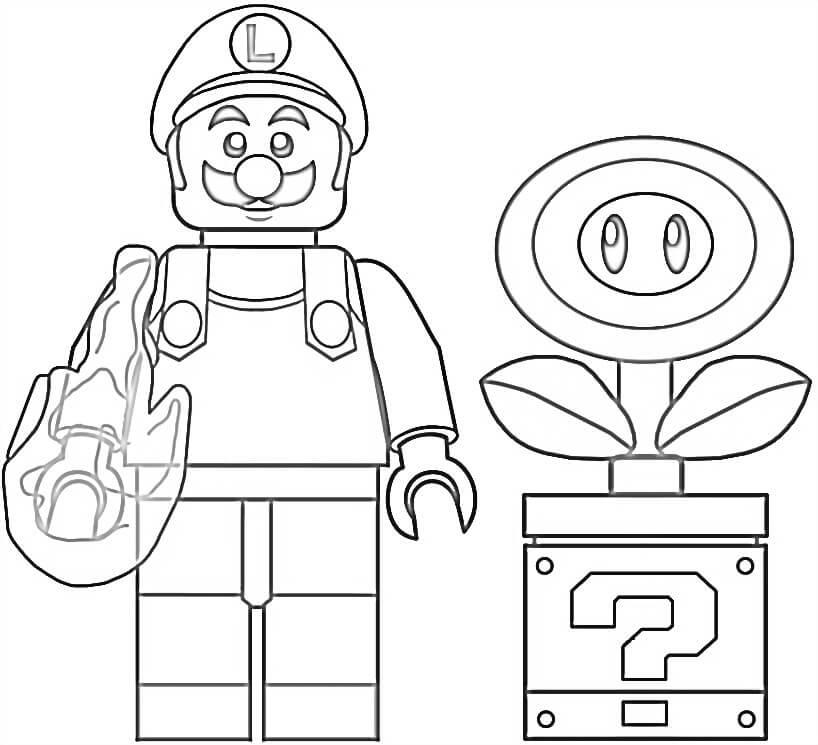 Lego Fire Luigi