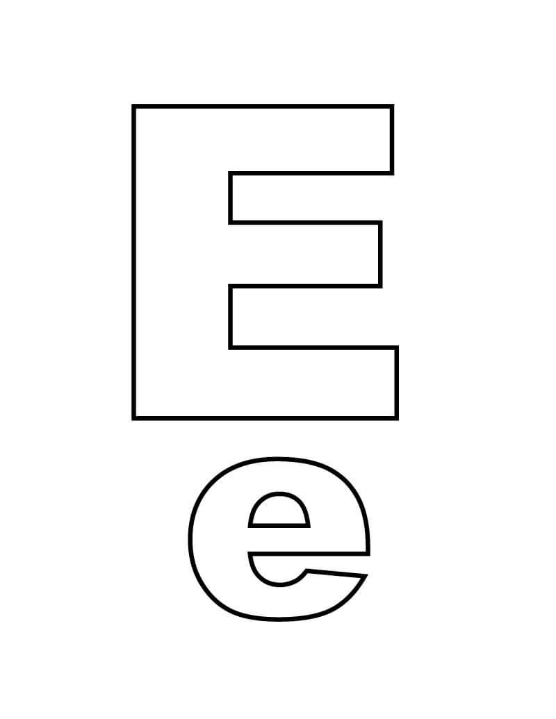 Letter E 12