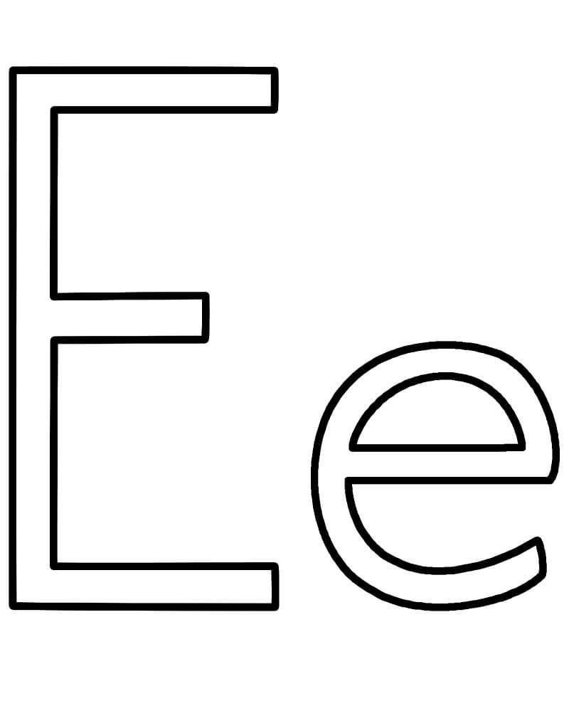 Letter E 4