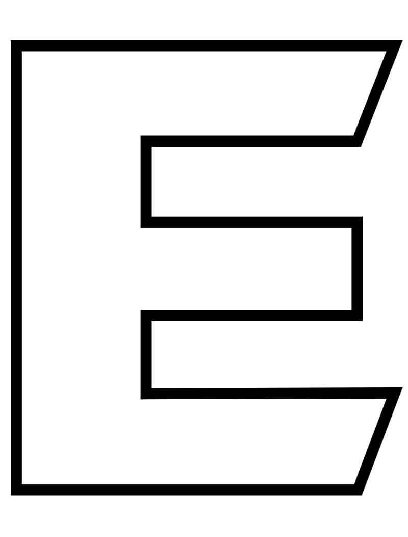 Letter E 7