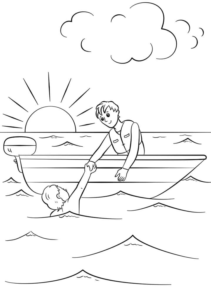 Lifeguard Saves a Man