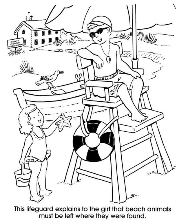 Lifeguard and Little Girl