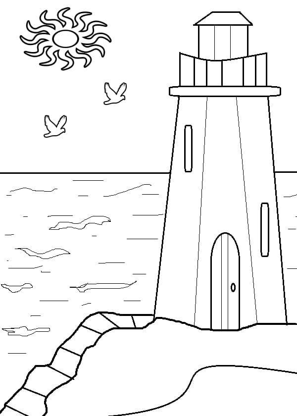 Lighthouse and Sun