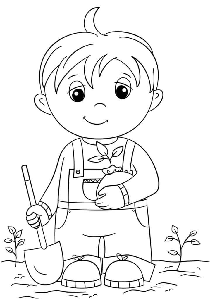 Little Boy in Arbor Day