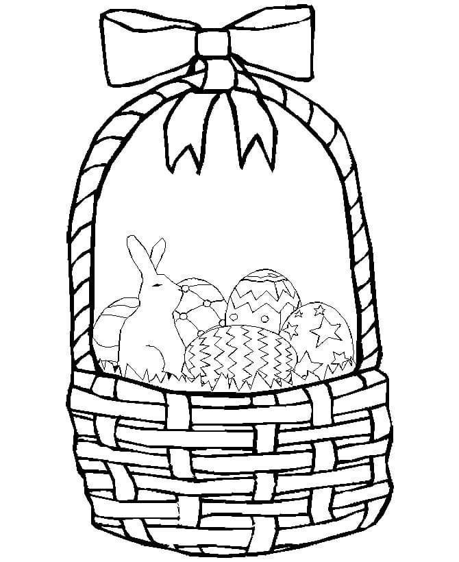 Little Bunny in Easter Basket