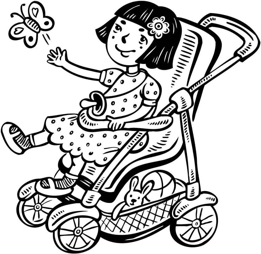 Little Girl in Stroller