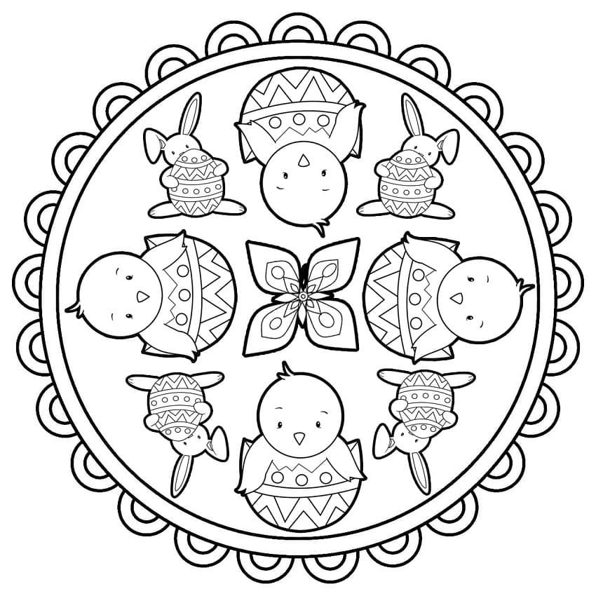 Lovely Easter Mandala 1