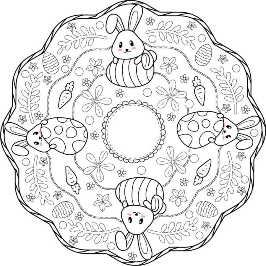 Lovely Easter Mandala