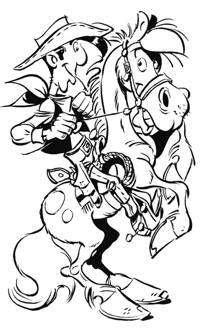 Lucky Luke with Jolly Jumper