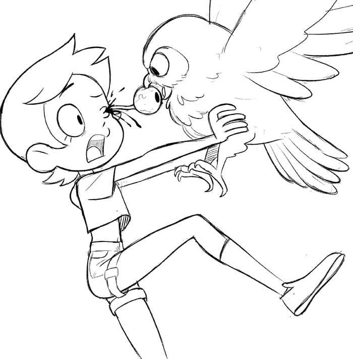 Luz Noceda with Owl