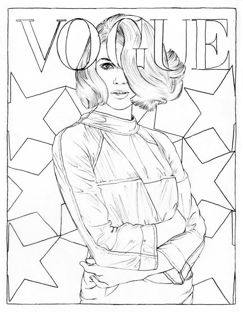 Magazine Cover Girl 1