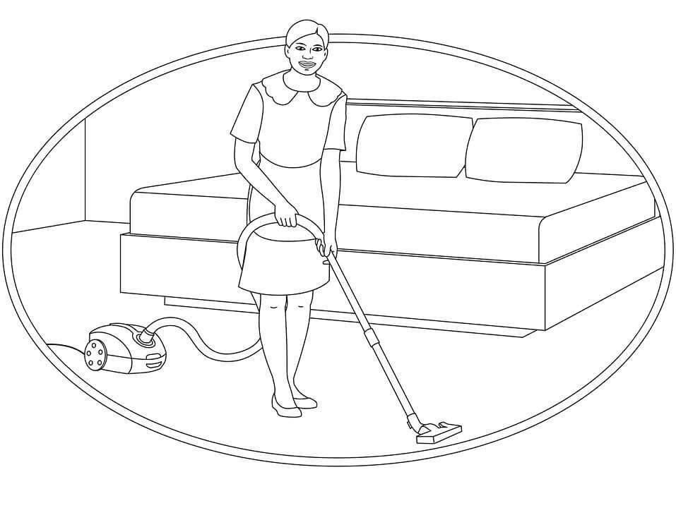 Maid Doing Housework