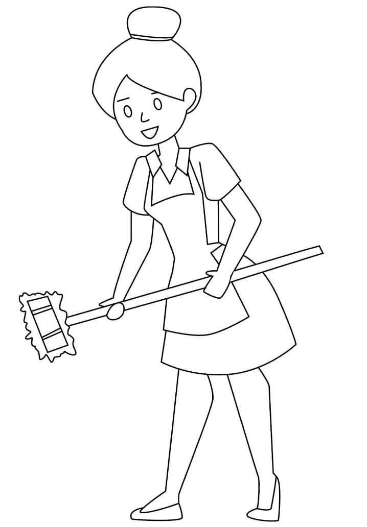 Maid Smiling