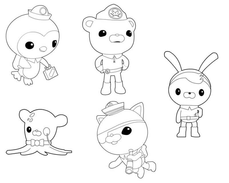 Main Octonauts Characters