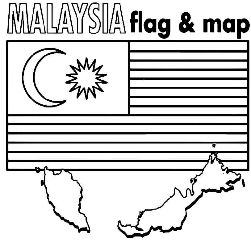 Malaysia Map and Flag