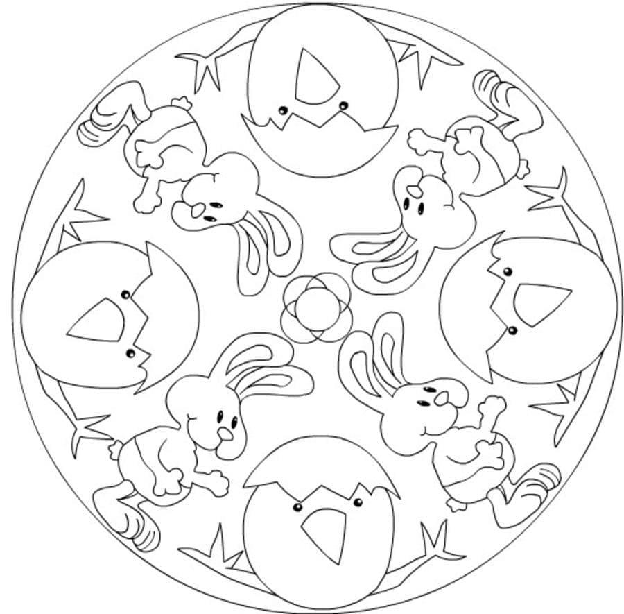 Mandala Easter 1