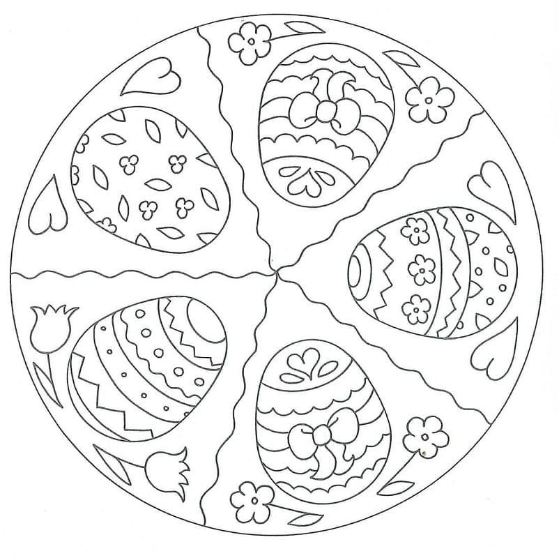 Mandala Easter with Eggs