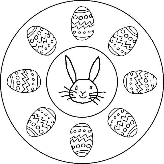 Mandala Easter with Rabbit