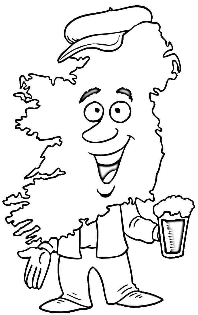 Map of Ireland Man