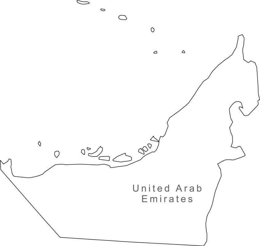 Map of United Arab Emirates 1