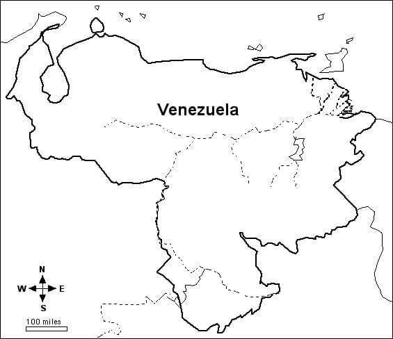 Map of Venezuela 1