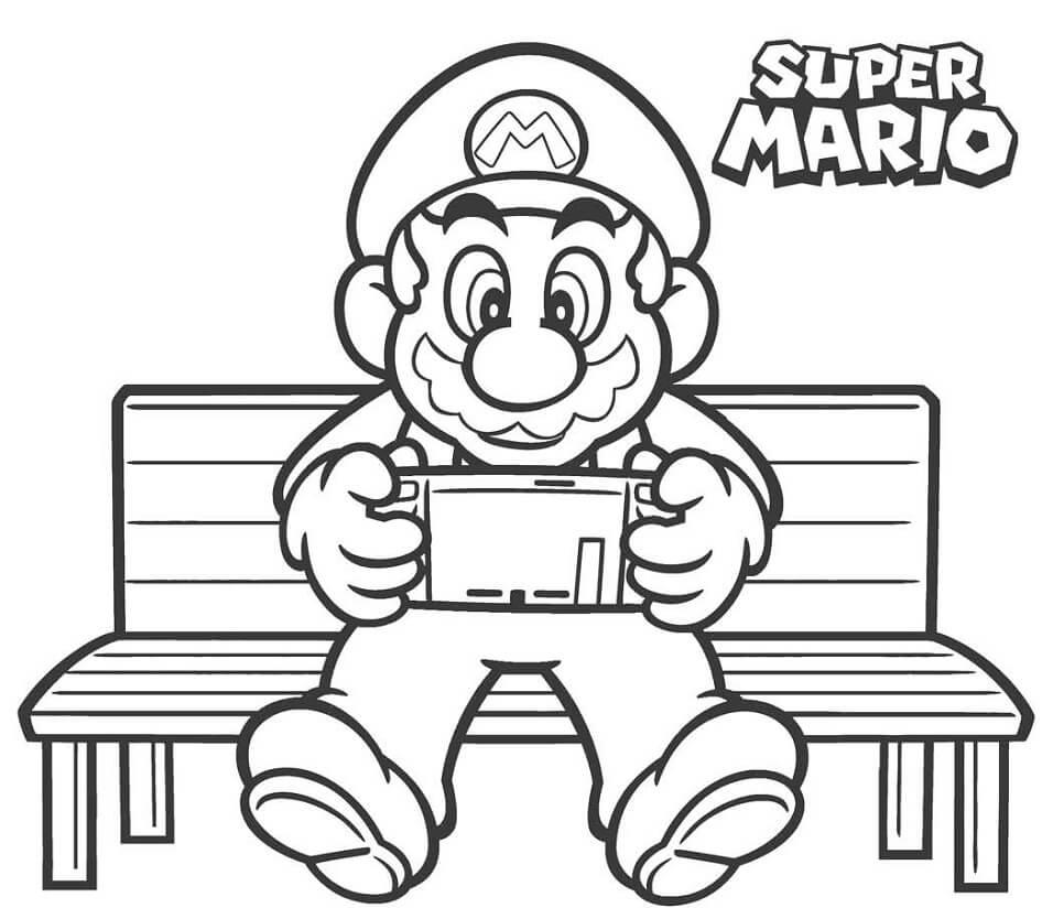 Mario Playing Game